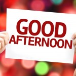 Good Afternoon card with colorful background